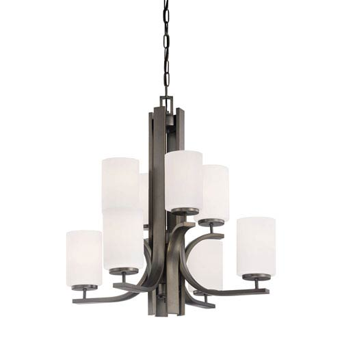 Pendenza Oiled Bronze Eight-Light Chandelier
