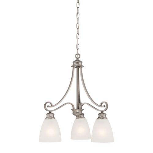 Thomas Lighting Haven Satin Pewter Three-Light Chandelier