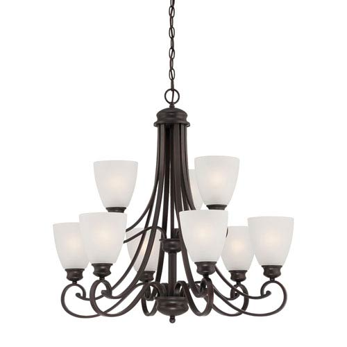 Haven Espresso Nine-Light Chandelier
