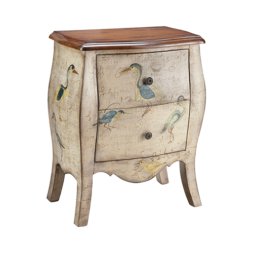 Sterling Hand-Painted Cream Chest