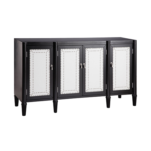 Harlond Hand-Painted Black and White Cabinet