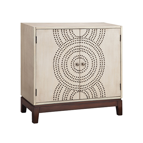 Sona Hand Painted Wood Tone Cabinet