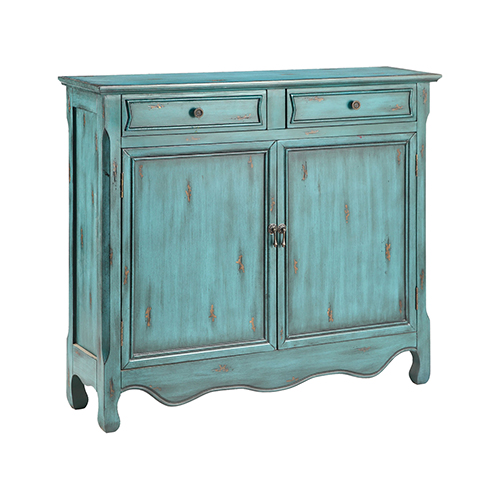 Claridon Hand-Painted Blue Gray Cabinet