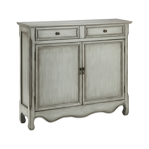Claridon Hand-Painted Cream and Tan Cabinet