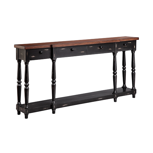 Stein World Simpson Hand-Painted Black Console Table