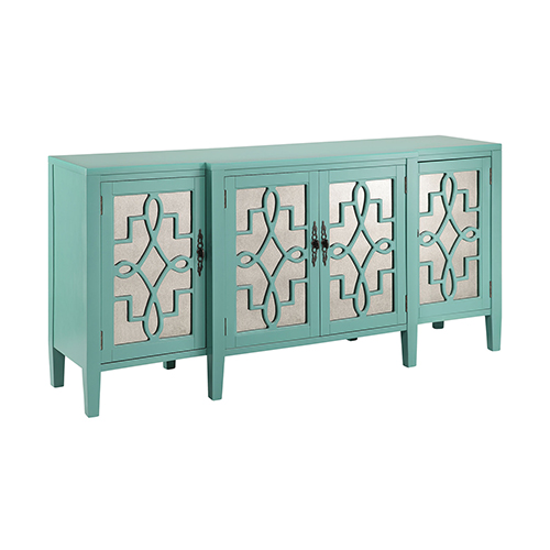 Stein World Lawrence Hand-Painted Turquoise Cabinet