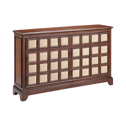 Stein World Lyly Hand-Painted Brown Cabinet