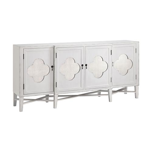 Stein World Juliette Hand-Painted White 70-Inch Cabinet