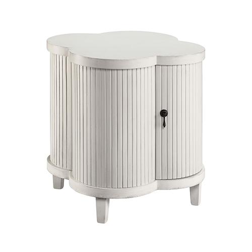 Stein World Juliette Hand-Painted White 24-Inch Cabinet