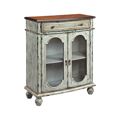 Andria Hand-Painted Blue and Cream Cabinet