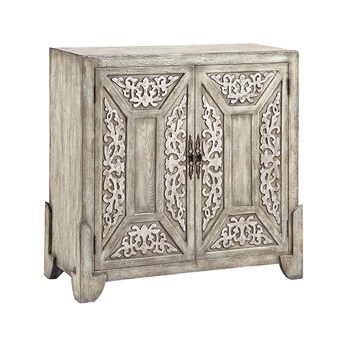Laural Hand-Painted Antique Sage Cabinet