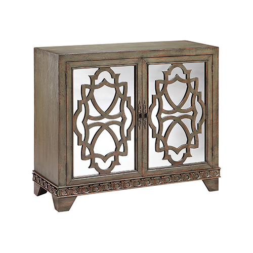 Stein World Mabel Hand-Painted Olive and Burnished Brown Cabinet
