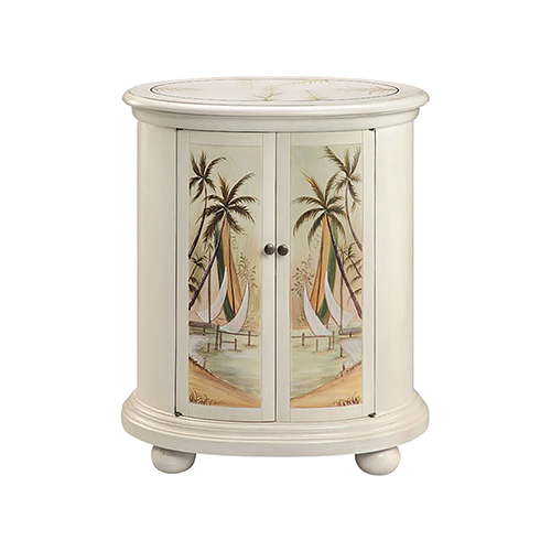 Lateen Hand-Painted Antique White Cabinet