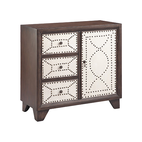 Stein World Cosette Hand-Painted Brown Cabinet