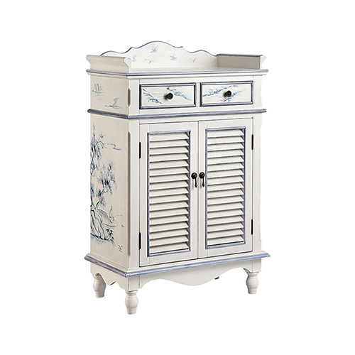 Willow Hand-Painted Blue and White Cabinet
