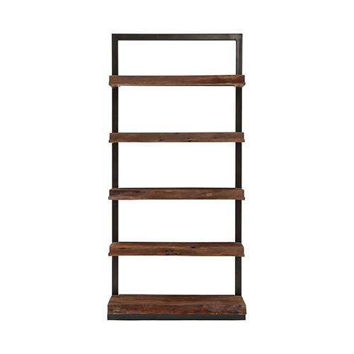 Ladder Black and Wood Shelf