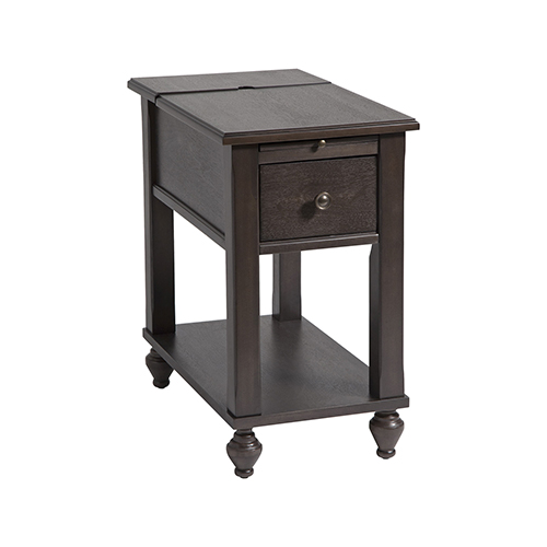 Stein World Peterson Brown and Gray SideTable
