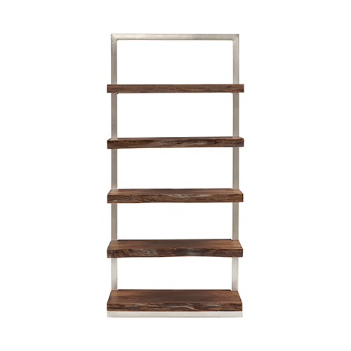 Ladder Silver and Wood Shelf