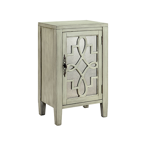 Stein World Leighton Hand-Painted Gray Cabinet