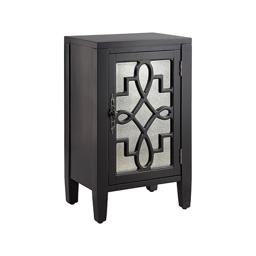 Leighton Hand-Painted Black Cabinet