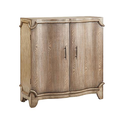 Estancia Hand-Painted Antique Wheat Cabinet