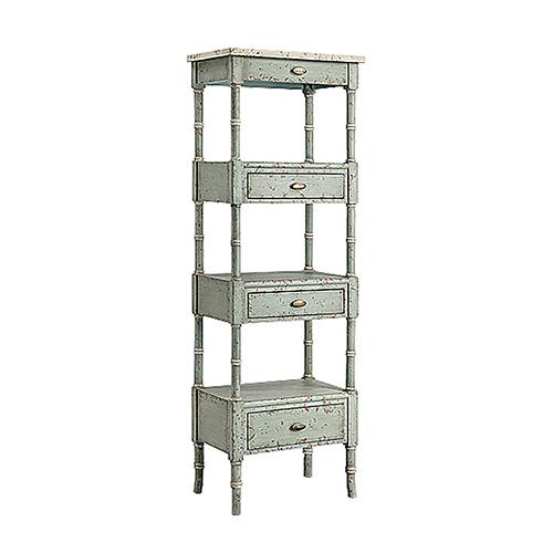 Zornes Blue Gray and Cream Cabinet