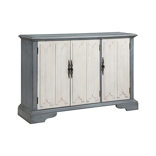 Coran Hand-Painted Blue and White Cabinet