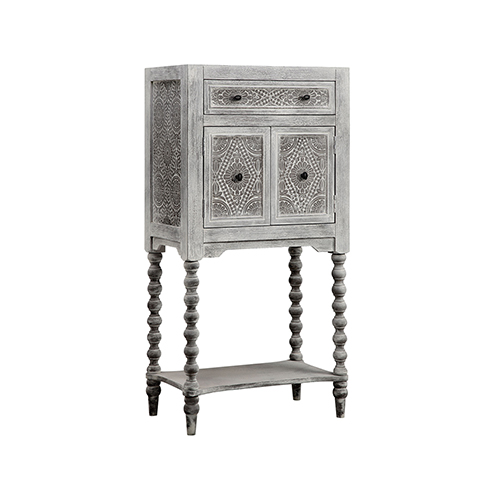 Stein World Torta Hand-Painted Gray Cabinet
