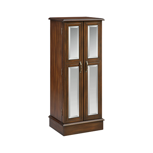 Ellis Hand-Painted Chestnut Jewelry Armoire
