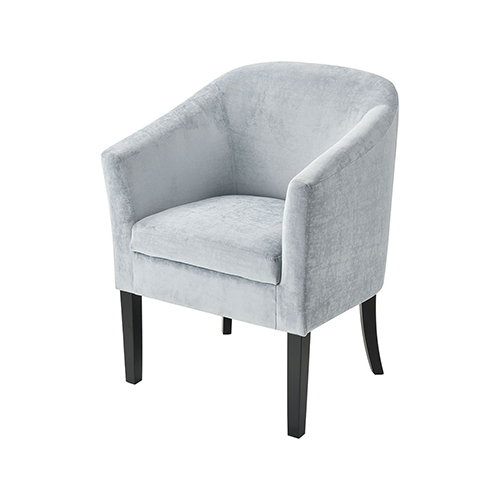 Lanz Light Blue Duck Egg Velvet Chair