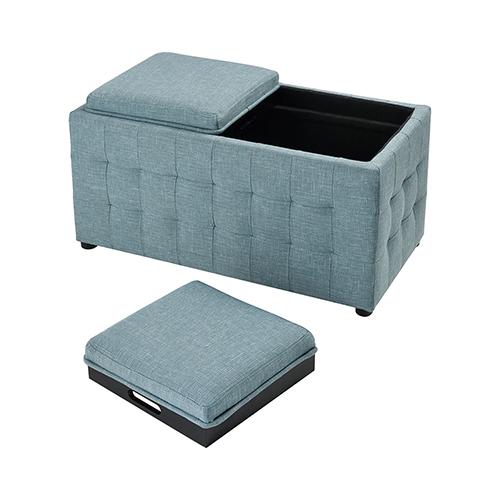 Reigel Sea Foam Linen Bench
