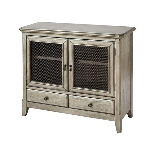 Stein World Walsh Antique Silver Leaf Cabinet