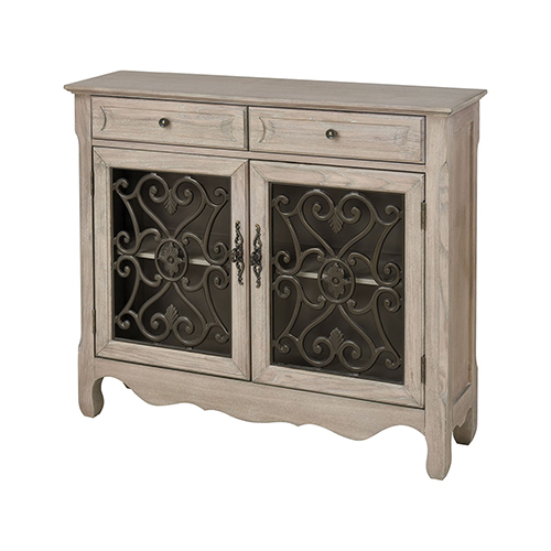 Stein World Haines Bleached Grey Oak Cabinet
