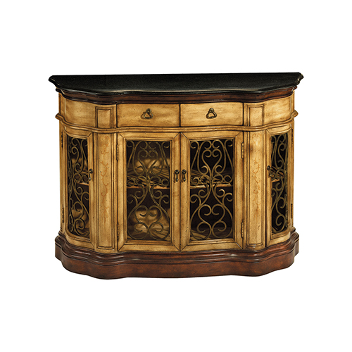 Stein World Cantebury Antique Tan And Black Cabinet