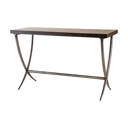 Valencia Black and Antique Silver Console Table