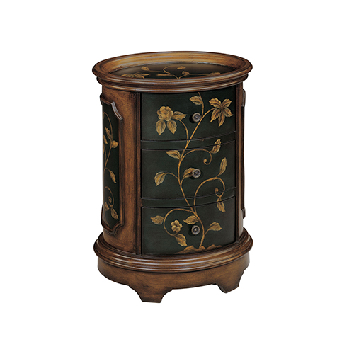 Stein World Ophelia Black and Brown Accent Table