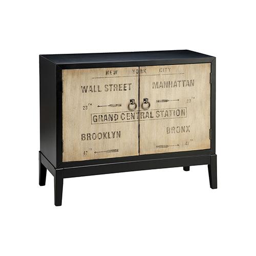 Stein World Station Hand-Painted Dark Espresso Cabinet