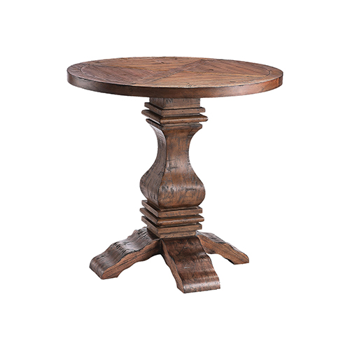 Chisolm Reclaimed Wood Pedestal Table