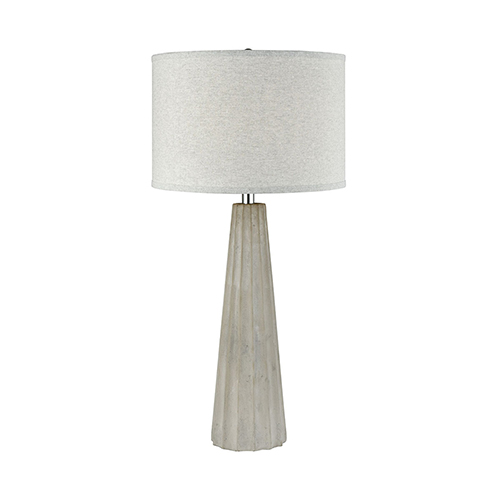 Castlestone Grey One-Light Table Lamp