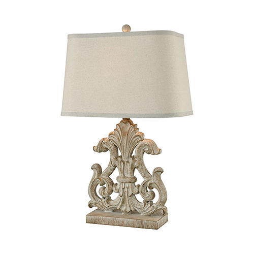 Bethnal Parisian Stone One-Light Table Lamp