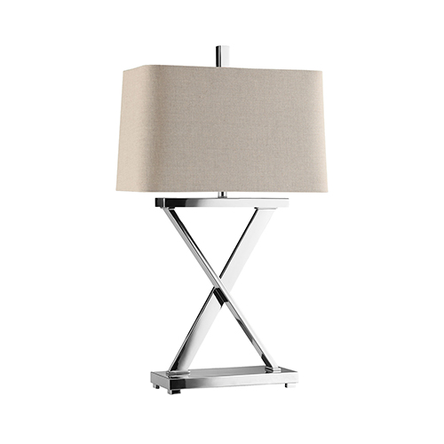 Max Chrome One-Light Table Lamp