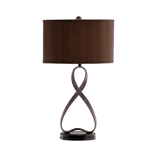 Lazy Eight Dark Wood One-Light Table Lamp