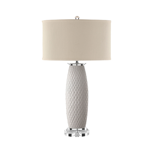 Jasmine White One-Light Table Lamp