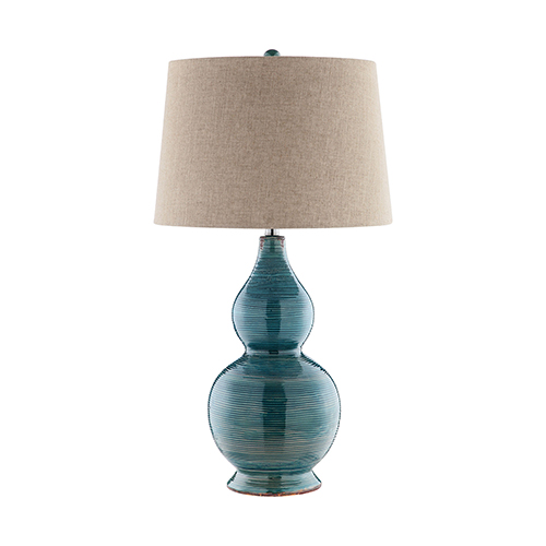 Lara Blue and Golden Brown One-Light Table Lamp
