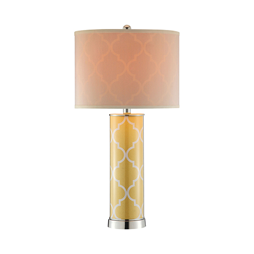 Casablanca Yellow and Silver One-Light Table Lamp
