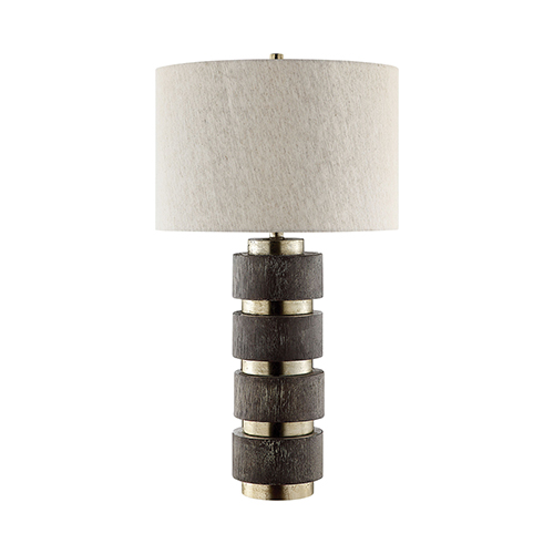 Paradox Silver and Dark Brown One-Light Table Lamp