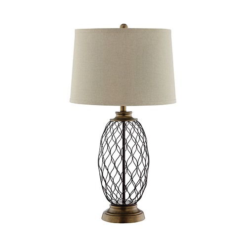 Cape Antique Brass One-Light Table Lamp