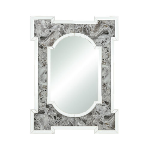 Crystalline Grey Agate 30 x 40 Inch Wall Mirror
