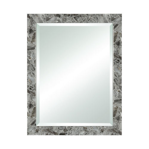 Crystalline Grey Agate 28 x 36 Inch Wall Mirror