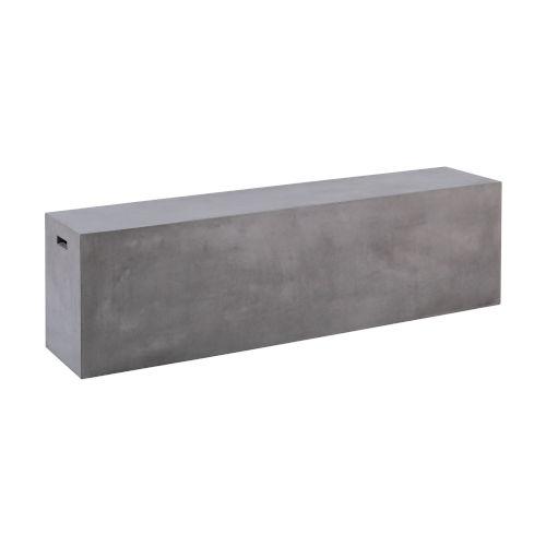 Endai Polished Concrete 71-Inch Bench